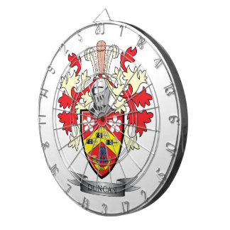Duncan Family Crest Coat of Arms Dartboard