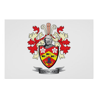 Duncan Family Crest Coat of Arms Poster