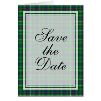 Duncan Tartan Save The Date Card