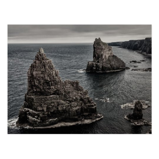 Duncansby Rock Stacks North of Scotland Landscape Postcard