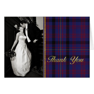 Dundonald Plaid Wedding Photo Thank You Card