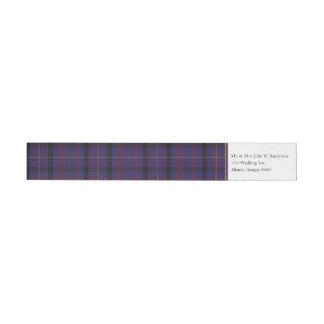Dundonald Plaid Wrap Address Labels