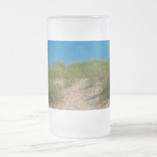 Dune And Oats Frosted Glass Beer Mug
