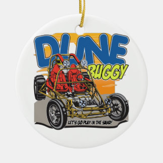 Dune Buggy Play in the Sand Round Ceramic Ornament