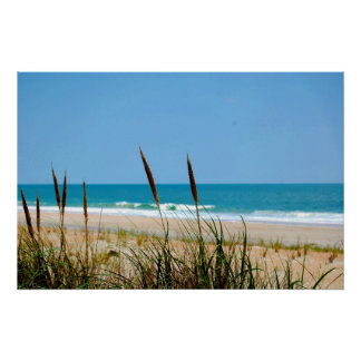 Dune Grass & The Atlantic Ocean Poster