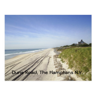 Dune Road, The Hamptons N.Y. Postcard