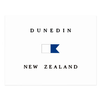 Dunedin New Zealand Alpha Dive Flag Postcard