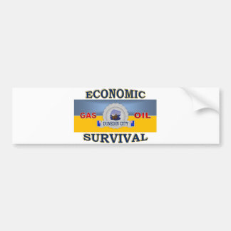 DUNEDIN'S (NZ) ECONOMIC SURVIVAL BUMPER STICKER