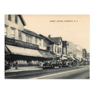 Dunellen, New Jersey, North St., 1941 Vintage Postcard