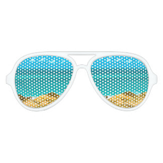 Dunes and Ocean Jericoacoara Brazil Aviator Sunglasses