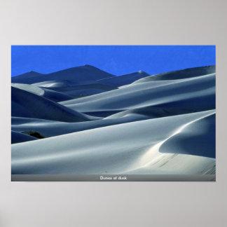 Dunes at dusk poster
