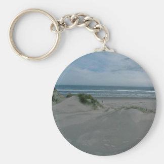 Dunes Near The Sea Basic Round Button Keychain