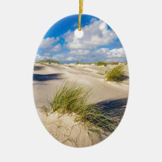 Dunes on the North Sea island Amrum Ceramic Ornament