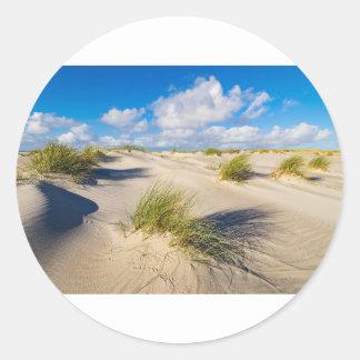 Dunes on the North Sea island Amrum Classic Round Sticker