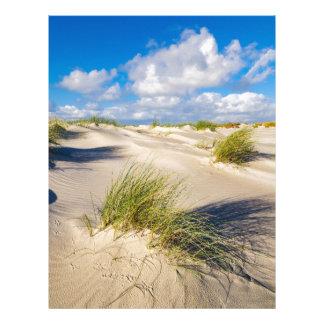 Dunes on the North Sea island Amrum Letterhead