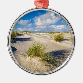 Dunes on the North Sea island Amrum Metal Ornament