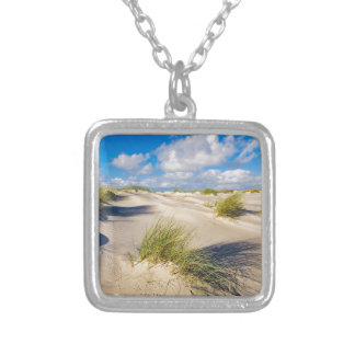 Dunes on the North Sea island Amrum Silver Plated Necklace