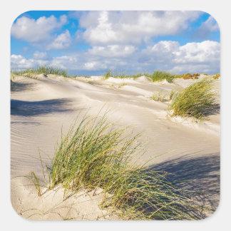 Dunes on the North Sea island Amrum Square Sticker