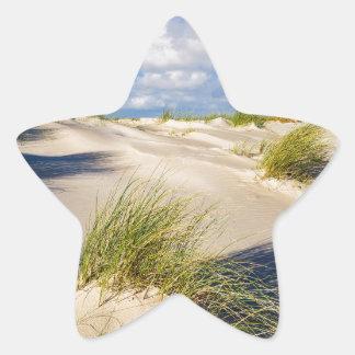 Dunes on the North Sea island Amrum Star Sticker