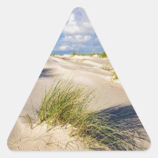 Dunes on the North Sea island Amrum Triangle Sticker