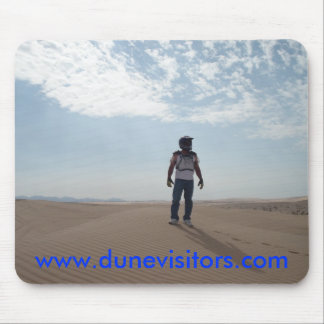 dunevisitor on top of the dunes, w... - Customized Mouse Pad