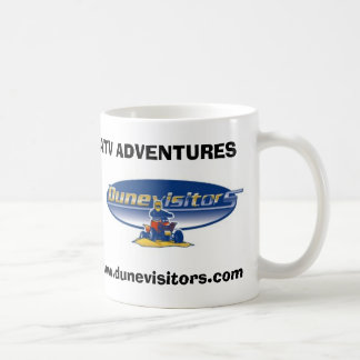 Dunevisitors logo, ATV ADVENTURES, www.dunevisi... Coffee Mug
