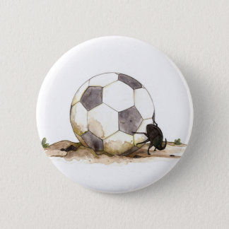 Dung Beetle Playing Football Button