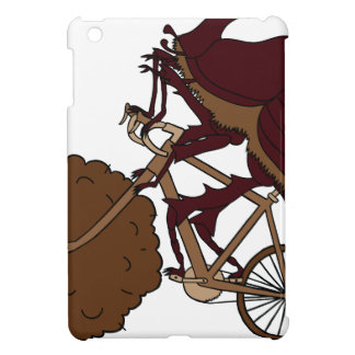 Dung Beetle Riding Bike With Dung Wheel iPad Mini Covers
