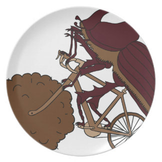 Dung Beetle Riding Bike With Dung Wheel Plate