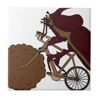 Dung Beetle Riding Bike With Dung Wheel Tile