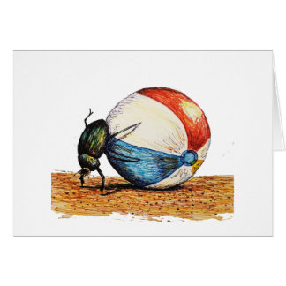 Dung Beetle Vacation Card