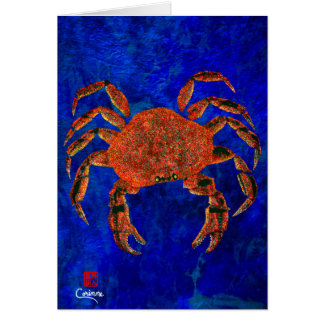 "Dungeness Crab - 5"" x 7"" Art Card"