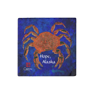 Dungeness Crab, Hope - Marble Magnet