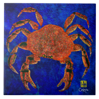 Dungeness Crab R - Large Ceramic Tile