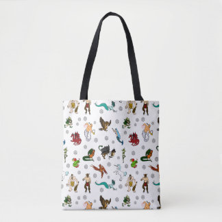 Dungeon and Dragons Creatures and Dice Tote Bag