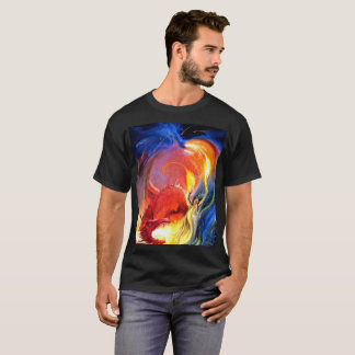 Dungeons Dragons Wizard Sorcerer Dragon Fire Magic T-Shirt