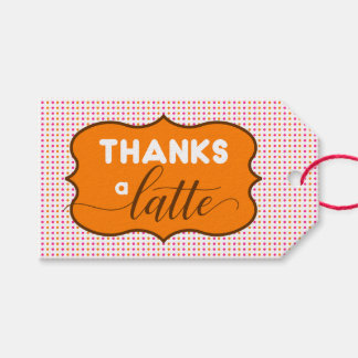 Dunkin Donuts Themed Thanks a Latte Gift Tags