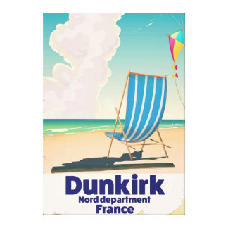 Dunkirk Beach travel poster Canvas Print