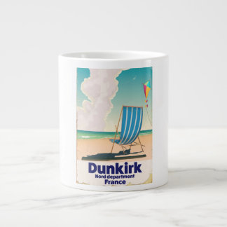 Dunkirk Beach travel poster Large Coffee Mug