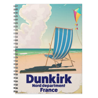 Dunkirk Beach travel poster Spiral Notebook