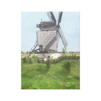 Dunkirk windmill,France. Canvas Print