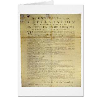 Dunlap Broadside Declaration of Independence 1774 Card