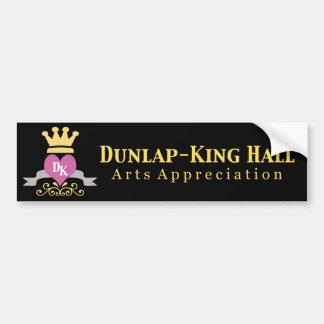 Dunlap-King Black Bumper Sticker