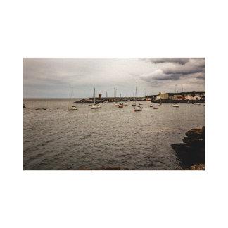 """Dunmore East harbor"" canvas prints/wall art"