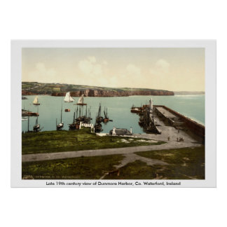 Dunmore Harbor, County Waterford Poster