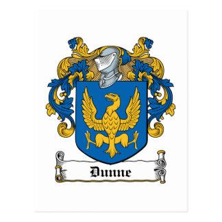 Dunne Family Crest Postcard