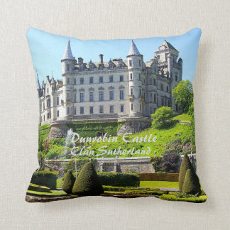 Dunrobin Castle – Clan Sutherland Throw Pillow