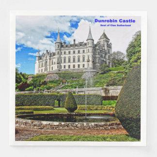 Dunrobin Castle  Seat of Clan Sutherland Paper Dinner Napkin