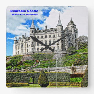 Dunrobin Castle  Seat of Clan Sutherland Square Wall Clock