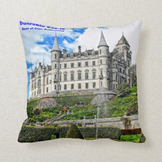 Dunrobin Castle  Seat of Clan Sutherland Throw Pillow